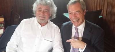 Beppe Grillo, Nigel Farage e l'Europa