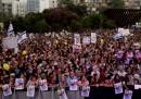 La manifestazione per i tre ragazzi israeliani scomparsi