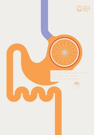 La campagna per incoraggiare l'uso della bicicletta a Buenos Aires