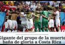 El gigante del grupo de la muerte baña de gloria a Costa Rica