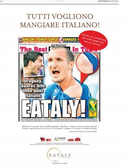 La pubblicità di Eataly con Suarez e Chiellini