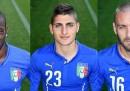 Le figurine dell'Italia ai Mondiali