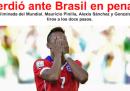 Le homepage dei giornali cileni