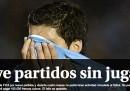 Le homepage uruguaiane sulla squalifica di Suárez