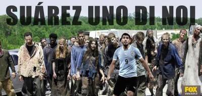 La pubblicità di The walking dead con Suarez