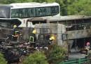 L'esplosione di un autobus in Cina
