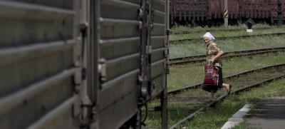 I corpi del volo MH17 sono su un treno