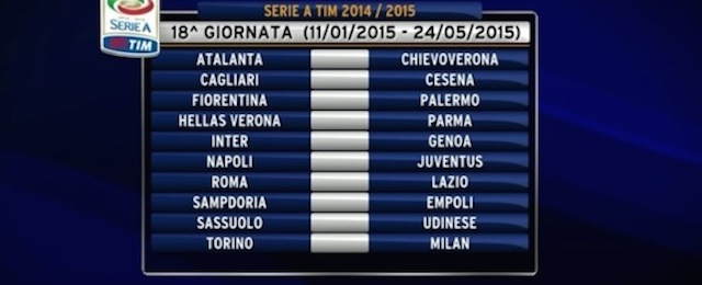 Calendario Partite Calcio Serie A.Calendario Serie A 2014 15 Tutte Le Partite Il Post