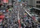 La manifestazione per la democrazia a Hong Kong