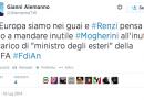 """Alemanno e Mogherini """"alla UEFA"""""""