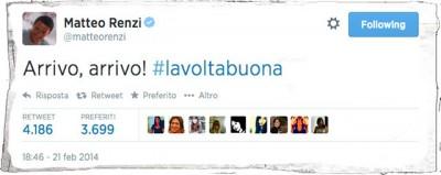 I tweet di @matteorenzi
