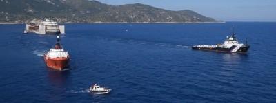 Costa Concordia, la partenza vista dal drone