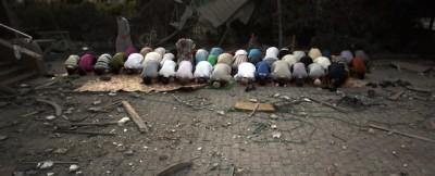 Un'altra scuola bombardata a Gaza