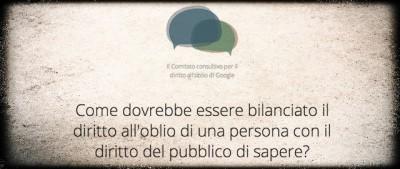 """Il comitato di Google per il """"diritto all'oblio"""""""