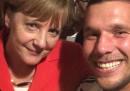 I selfie di Podolski dopo la finale