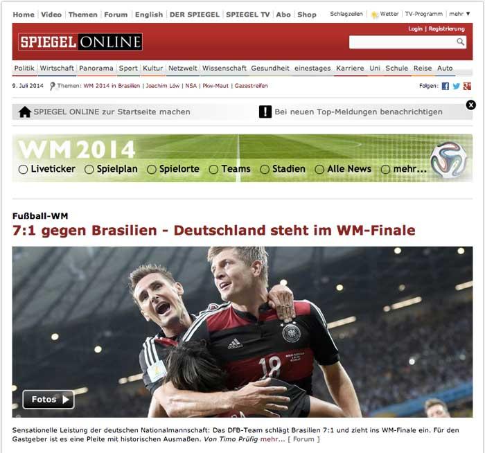 Le homepage dei giornali tedeschi e brasiliani il post for Spiegel homepage