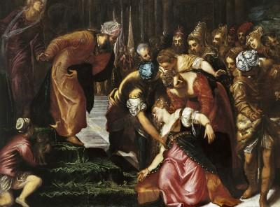 """(Tintoretto) """"Dei sali, presto""""."""