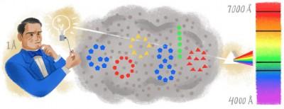 Anders Jonas Ångström nel doodle di Google