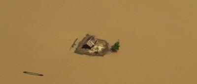 10 foto aeree delle alluvioni in Orissa