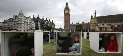 La manifestazione di Oxfam per Gaza, a Londra