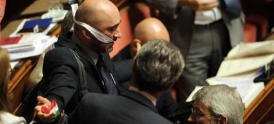 25 foto agitate di giovedì in Senato