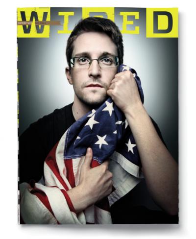 La copertina di Wired con Edward Snowden