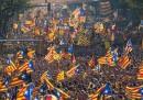 La grande manifestazione per la Catalogna indipendente