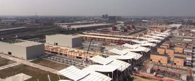 I cantieri di Expo 2015 a Milano, visti da un drone