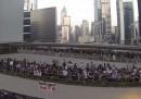 Le proteste a Hong Kong, viste da un drone