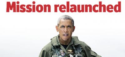 """La copertina dell'Economist con Obama vestito da pilota: """"Missione ricominciata"""""""