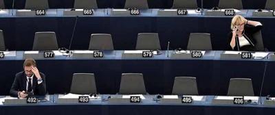Assenti e presenti al Parlamento europeo