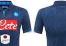 La nuova seconda maglia del Napoli, jeans