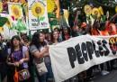 La grande marcia per l'ambiente a New York