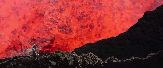il video spettacolare girato all 39 interno del vulcano marum