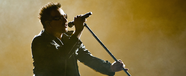 Bono of the Irish band U2 performs on Ju