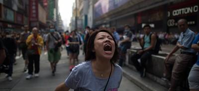 Gli sgomberi a Mong Kok
