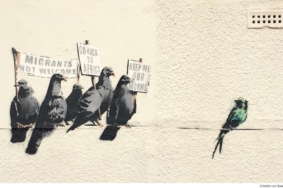 Migrazioni #MIGRAZIONI Banksy 2