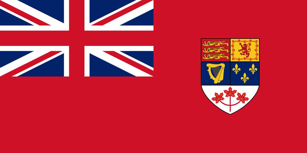 Bandiera Inglese Su Sfondo Rosso Klingedingen