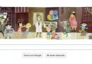 Jonas Salk e i bambini nel doodle di Google