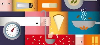 Spollo Kitchen, ricette illustrate da grafici