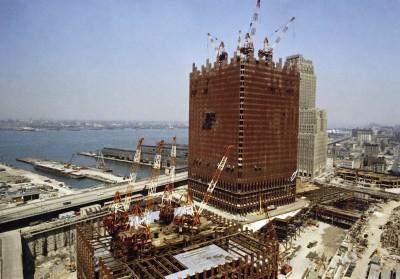 Il World Trade Center in costruzione