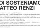 La pagina a pagamento sul Corriere a sostegno di Matteo Renzi