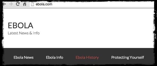 Ebola.com è stato venduto