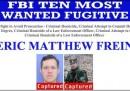Hanno arrestato uno dei dieci latitanti più ricercati dall'FBI