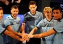 Le foto dei giocatori serbi e albanesi della Lazio, assieme