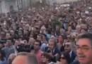 La piazza di Matera durante la scelta della Capitale europea della cultura – video
