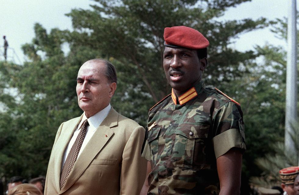 Francois Mitterrand e Thomas Sankara