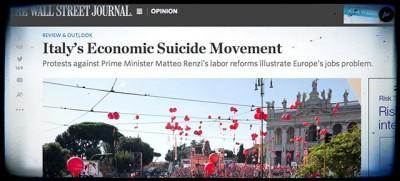 L'editoriale del Wall Street Journal contro i sindacati italiani