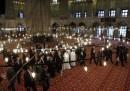 Papa Francesco in visita alla Moschea Blu di Istanbul