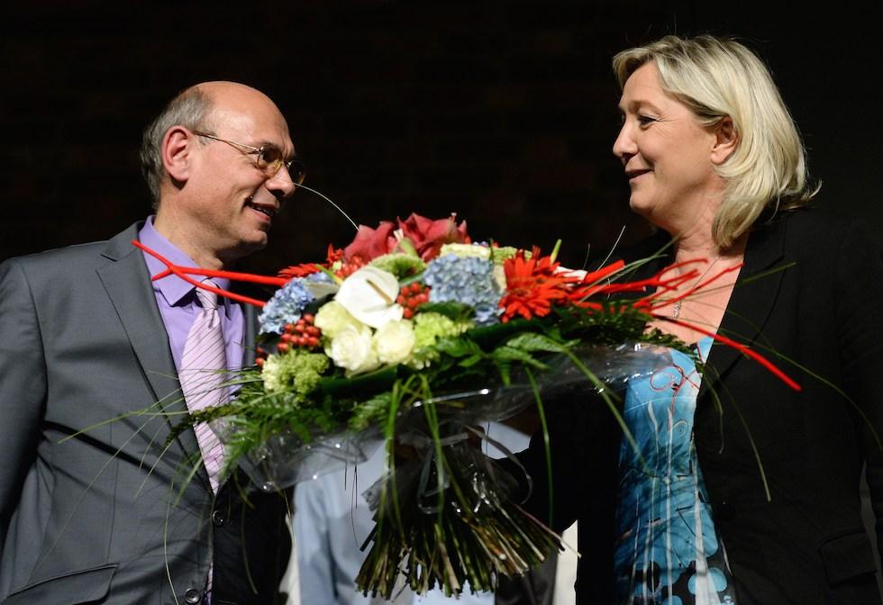 Jean-Luc Schaffhauser e Marine Le Pen